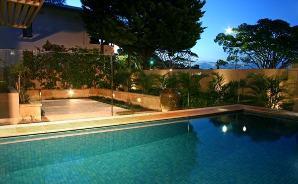 Stylish pool garden 001