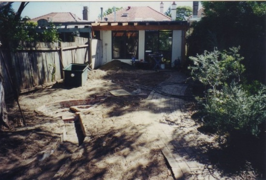 Native garden construction 001