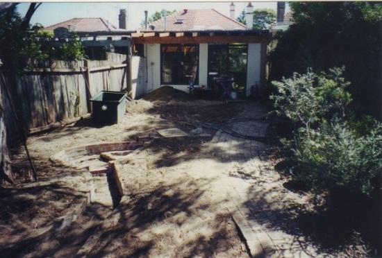 Native garden construction 001